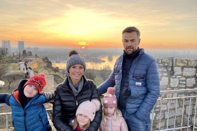 Jelena Helc Vesković sa porodicom