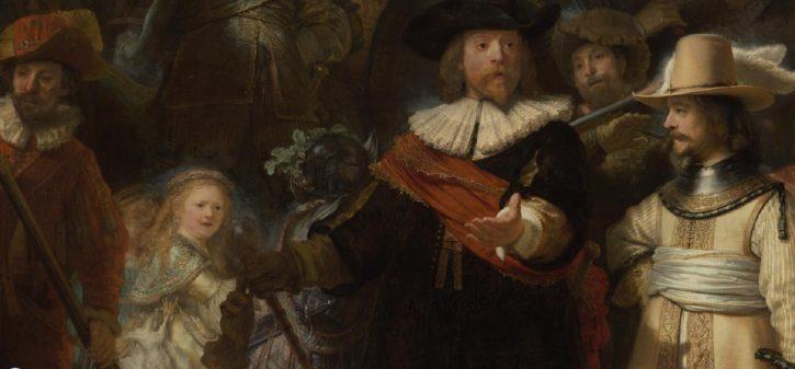 Rembrant, Noćna straža (detalj), Printscreen: Rijksmuseum