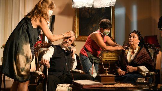 Vesna Cipcic i Zarko Lausevic tokom snimanja serije Kralj