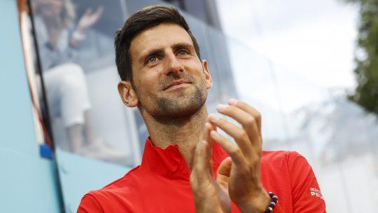 Novak Đoković aplaudira tokom jednog od mečeva na Adrija turu koji je održan u Beogradu