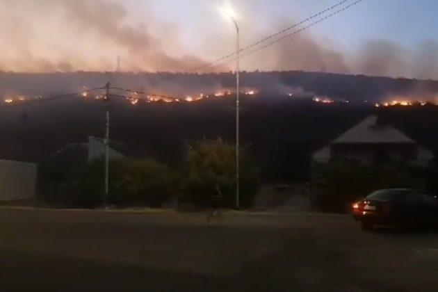 Velje brdo, Podgorica, Crna Gora, požar