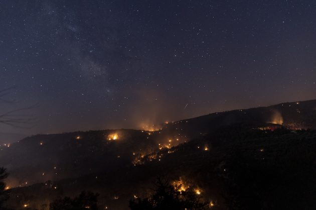 Požar u Korintu korint grčka