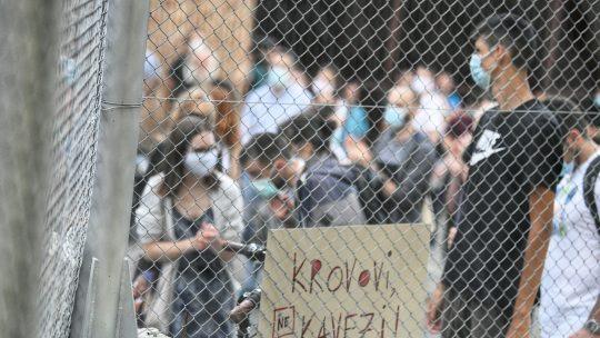 Protest ispred Centralnog zatvora zbog hapsenja