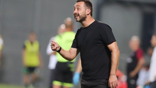 Trener Sasuola Roberto de Zerbi