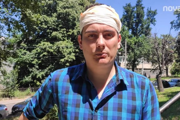 Vojislav Milovančević novinar Nova.rs sa povredama glave tokom mirnih građanskih protesta