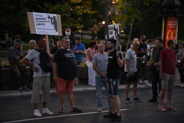 DJB, protest, Skupština Srbije