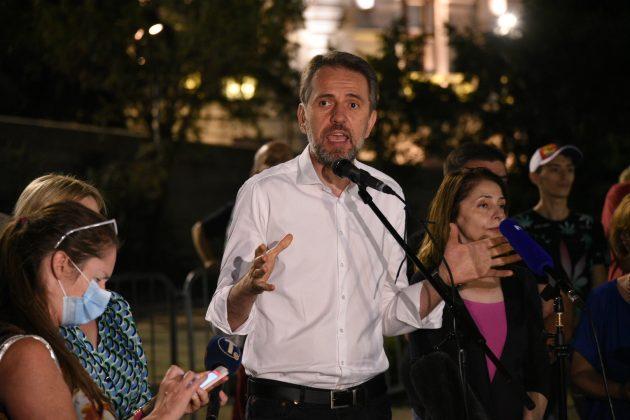 Saša Radulović, DJB, protest, Skupština Srbije