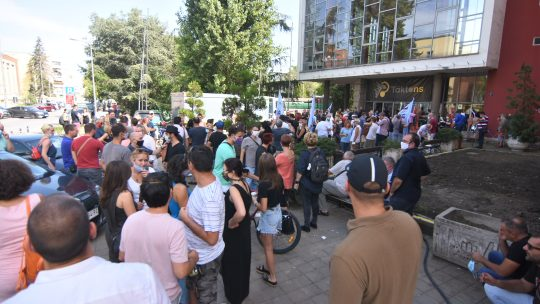 Protest radnika Radio televizije Vojvodina