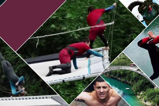Adrenalinski zavisnici u akciji - Most, reka, trambolina