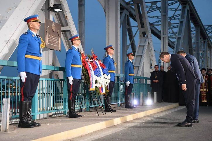 Oluja obelezavanje Dan secanja Aleksandar Vucic i Milorad Dodik spomen ploca