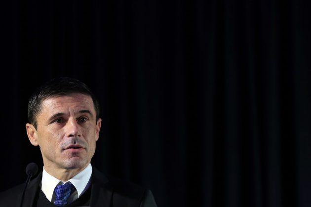 Milorad Mažić, najbolji srpski fudbalski sudija, na proglašenju za najboljeg arbitra