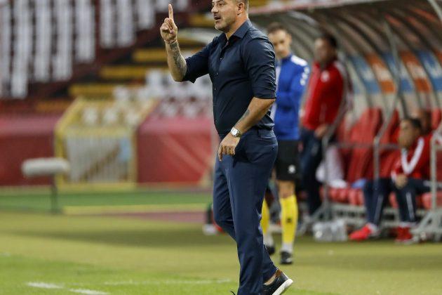 Dejan Stanković gestikulira pored fudbalskog terena