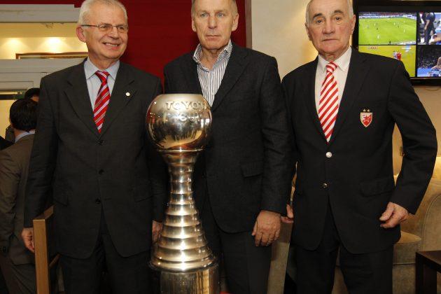 Vladica Popović na Zvezdinom jubileju kojim je obeleženo osvajanje titule prvaka sveta