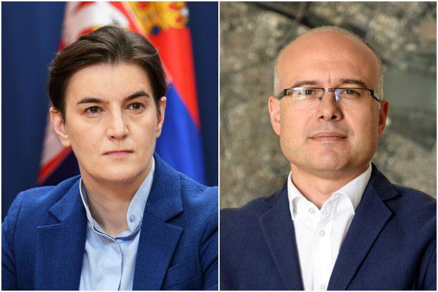 Ana Brnabić i Miloš Vučević