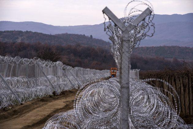 Žičana ograda, Severna Makedonija, granica