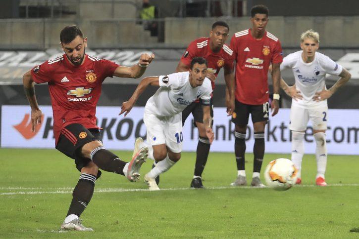 Bruno Fernandes iz penala odveo Mančester Junajted u polufinale Lige Evrope