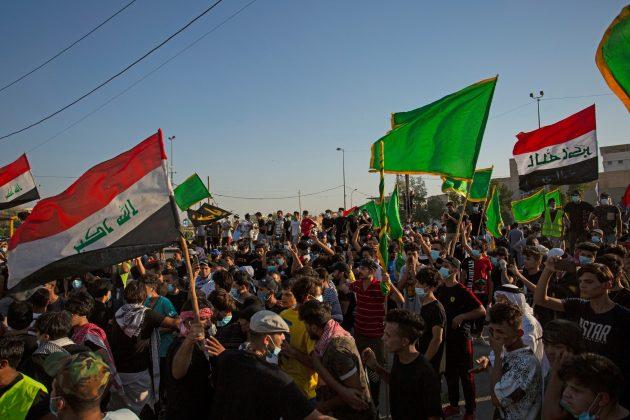 Basra, Irak protest