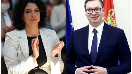 Dragana Sotirovski i Aleksandar Vucic