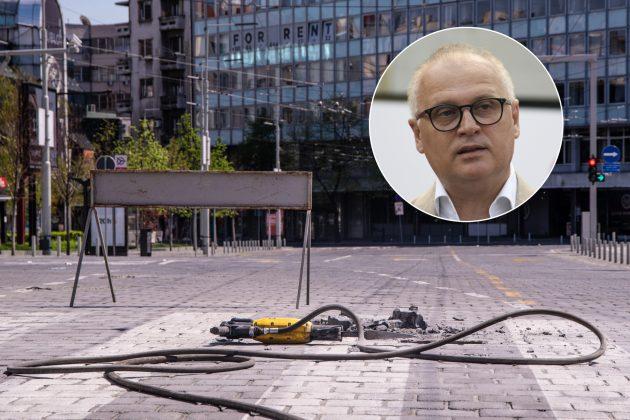 Kombo Goran Vesic i kocke na Trgu Republike