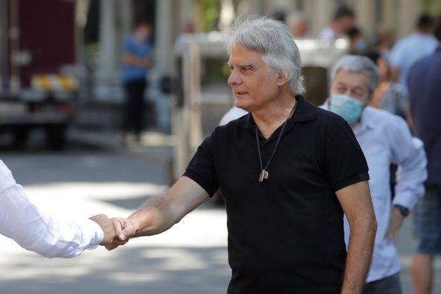 Boško Đorovski i Dušan Savić na sahrani Vladice POpovića
