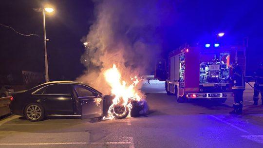 Zapaljen auto Dragan Antic fk Dinamo Vranje
