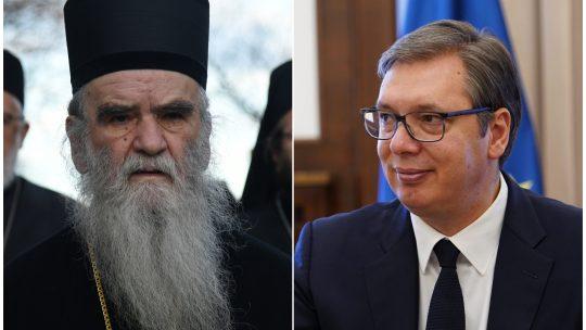 Mitropolit crnogorsko primorski Amfilohije Radovic i Aleksandar Vucic