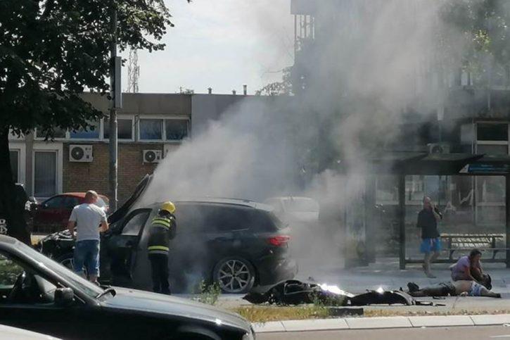 Eksplodirao džip na Novom Beogradu, dve osobe povređene