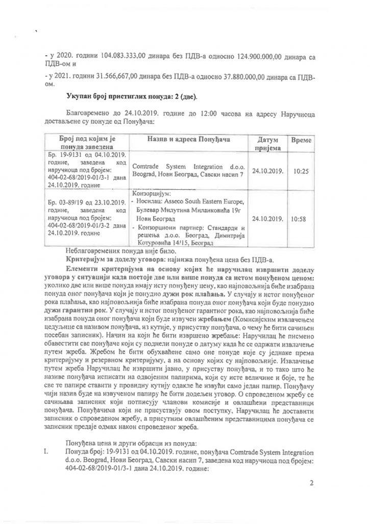 Firma Asseco i Vlada Srbije dokumenta