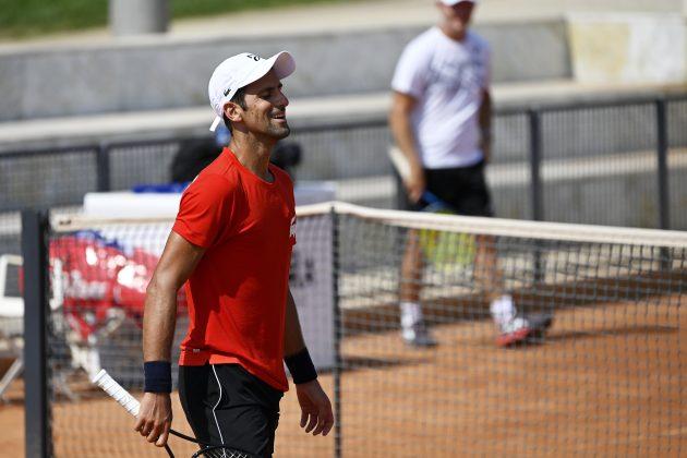 Novak Đoković trenirao je sa Gofanom uoči prvog meča u Rimu, u sredu protiv Karusa počinje turnir