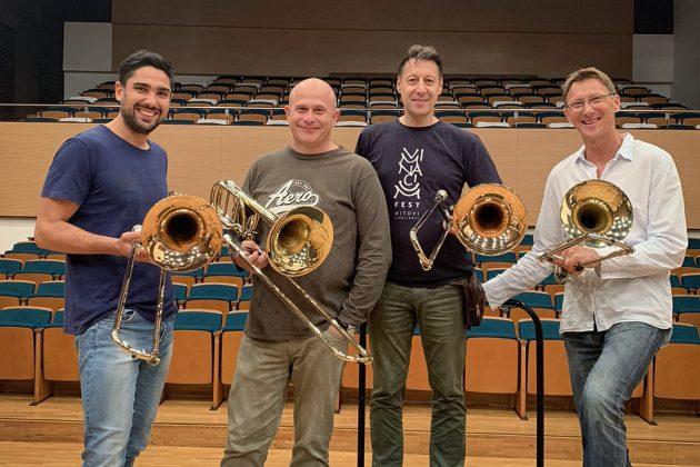 filharmonija, kvartet trombona