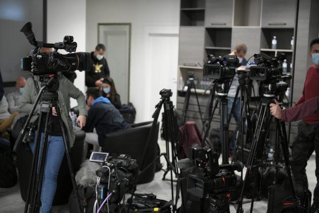 SNS, konferencija za novinare, novinari Foto: Dragan Mujan/Nova.rs