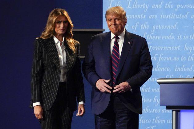 Donald i Melanija Tramp uoči debate