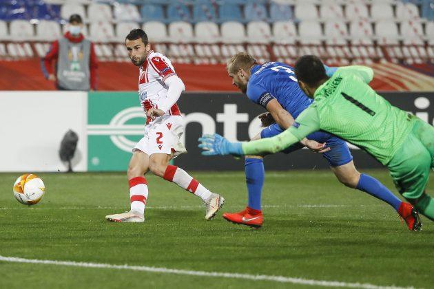 Gol Milana Gajića za 3:1 protiv Slovana