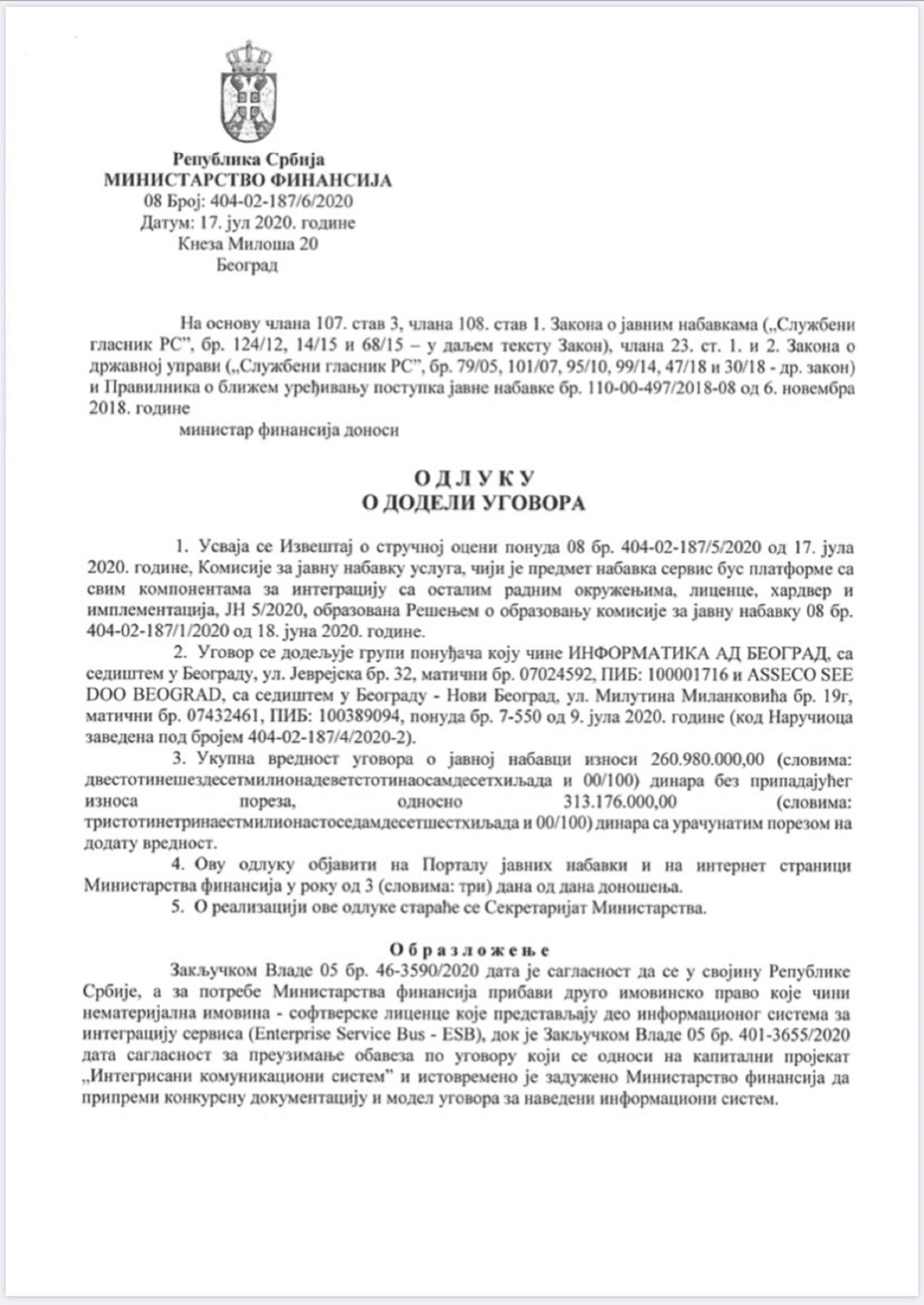ГАЗИ ПО СИРОТИЊИ: Уговор Синише Малог и брата Ане Брнабић тежак 313 милиона!