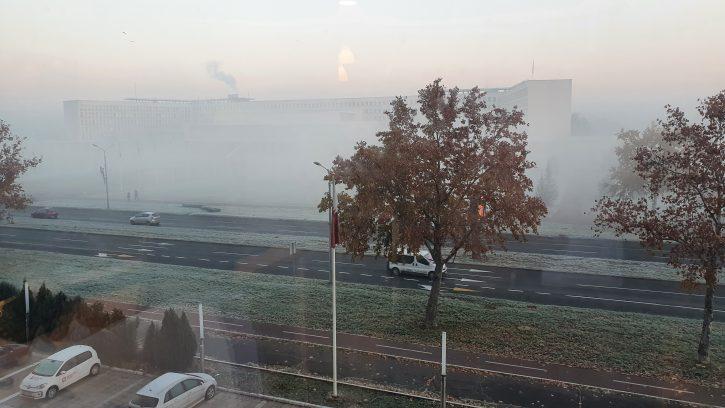 Palata Srbija u magli i smogu