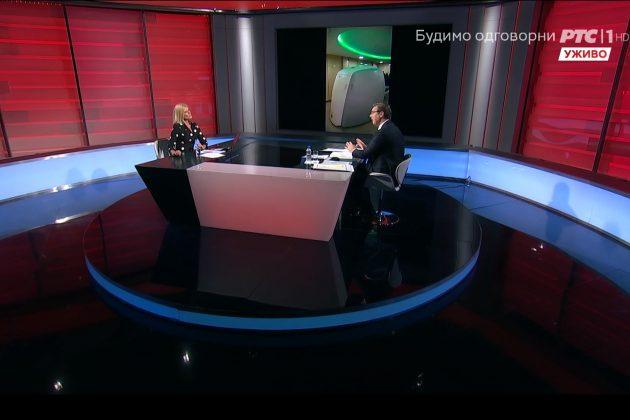 Aleksandar Vučić na RTS gost Nada Gogić
