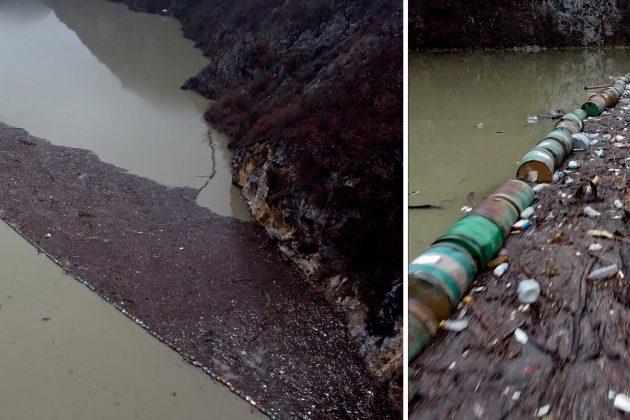 Ostrva smeća na rekama su naša sramota