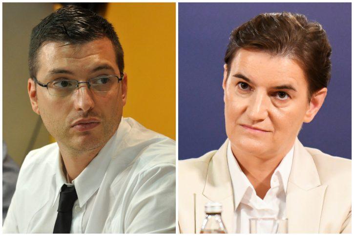 Predrag Azdejković i Ana Brnabić. Foto: Medija centar, Vesna Lalić/Nova.rs