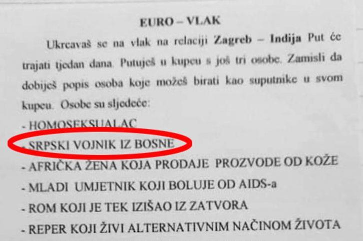 "Da li biste sedeli pored Srbina, monaha ili prostituke"" - NOVA portal"