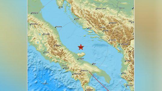 Zemljotres, Jadransko more