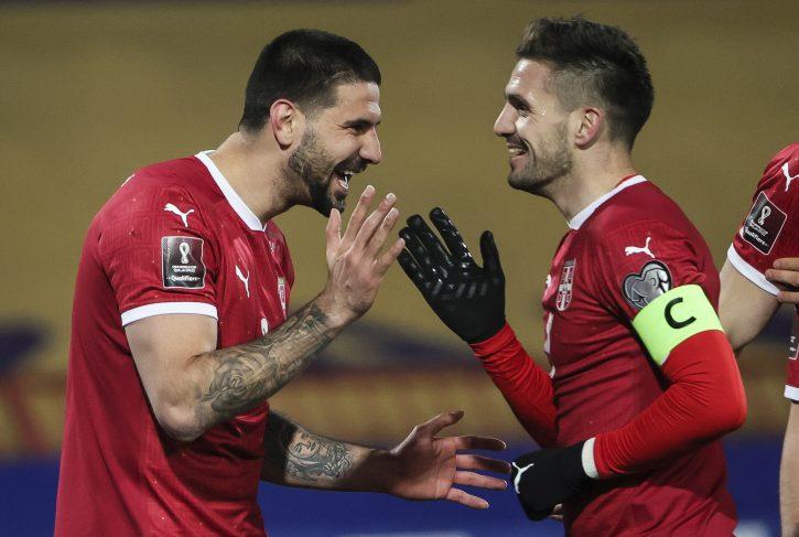 Dušan Tadić i Aleksandar Mitrović, Fudbaleri Srbije
