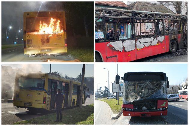 Autobusi koji su učestvovali u incidentima