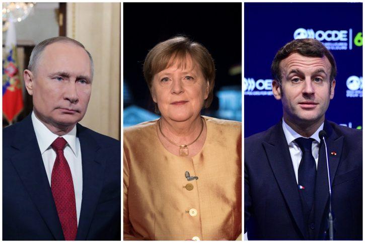 Putin, Merkel, Makron