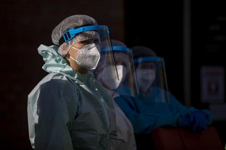 maske; vizir; zdravstveni radnici