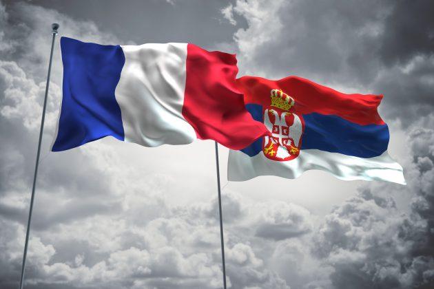 Zastave Francuska Srbija