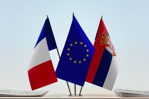 Francuska, EU, Srbija, zastava