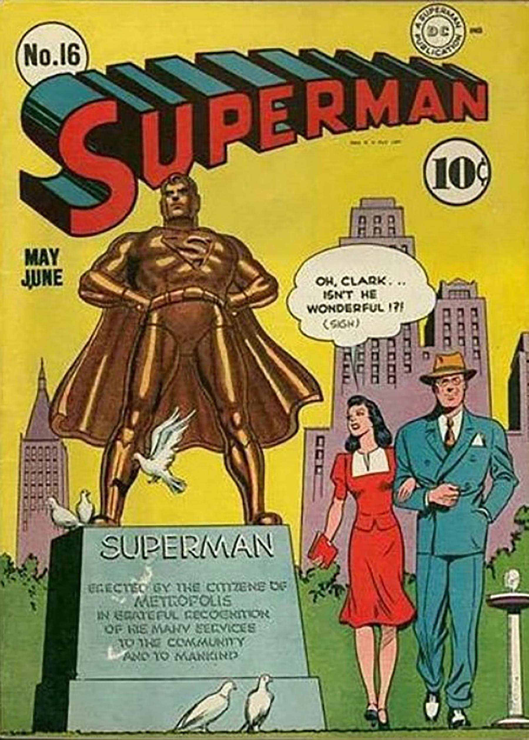 Naslovna strana 16. broja stripa Supermen
