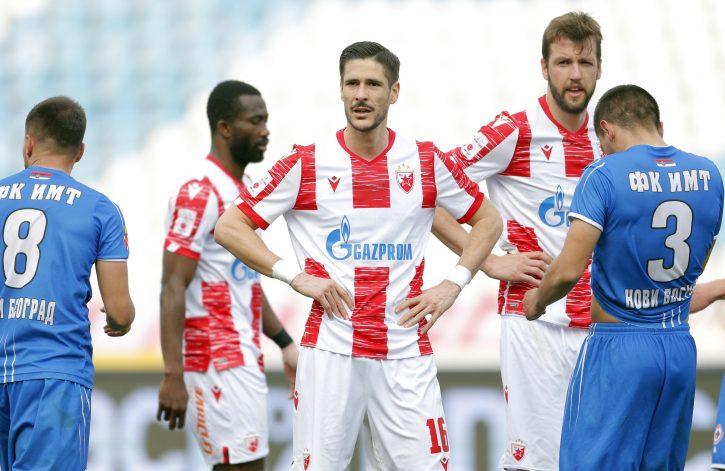 Dijego Falčineli slavi gol protiv IMT-a u četvrtfinalu Kupa Srbije