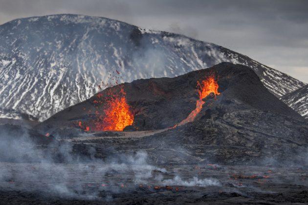 Island, vulkan, lava