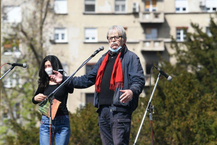 Ljubivoje Ršumović, Ekološki ustanak ispred Skupštine